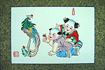 Chinese new year paintings - Yangliuqing - Phoenix and Kids