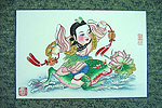 Chinese new year paintings - Yangliuqing - Liu Hai Playing with Golden Toad