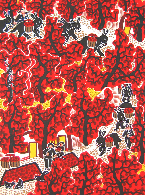 Chinese folk art paintings - Country Road