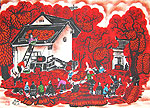 Chinese peasant paintings - Havest in Autumn