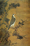 Hawk and Juniper, Zhang Shunzi, Chinese painting